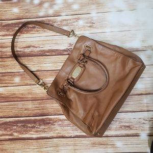 Michael Kors Big Shoulder Bag Purse Brown Leather